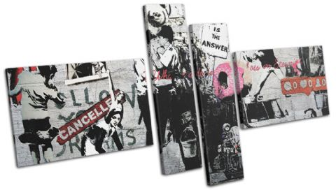 Montage Collage Banksy Street - 13-6068(00B)-MP08-LO
